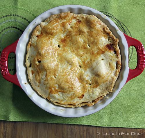 Apfel-Vanille-Rosinen Pie