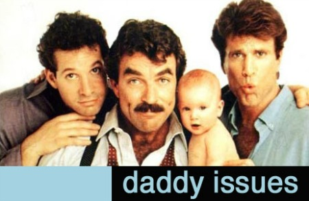 Steve Guttenberg, Tom Selleck, and Ted Danson pose with a naked baby, circa 1987. Danson looks particularly shocked.
