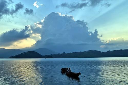 travel sunset people india mountain mountains reflection nature silhouette landscape boat asia sailing reservoir touristattraction shillong hillstation meghalaya umiamlake nikond3100 rememberthatmomentlevel1