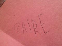 Claire can write her name