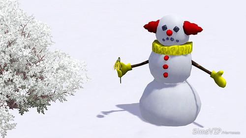 Tragic Clown Snowman