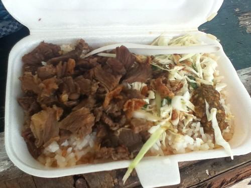 1文莱币牛肉饭
