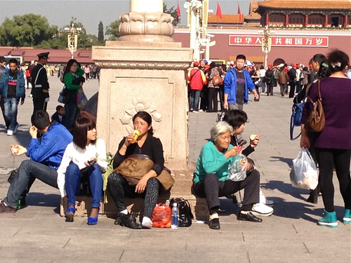 Tiananman Square  - tourists