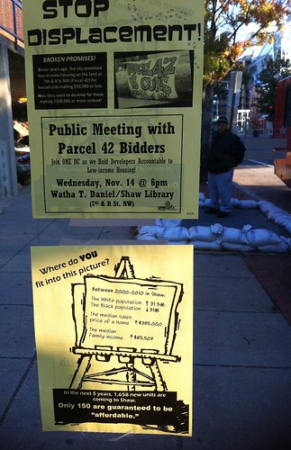 Bus stop protest fliers