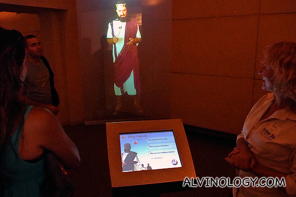 We visited an interactive gallery that retells the story of Caeserea