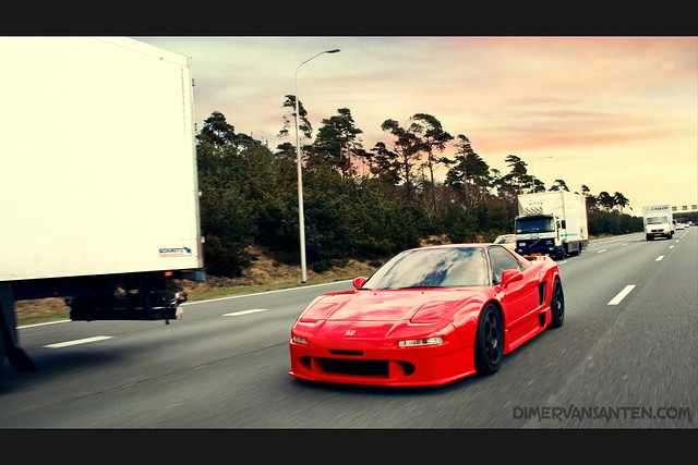 NSX on the highway