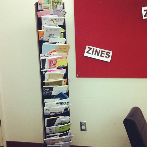 Over 100 zines collected for the library!