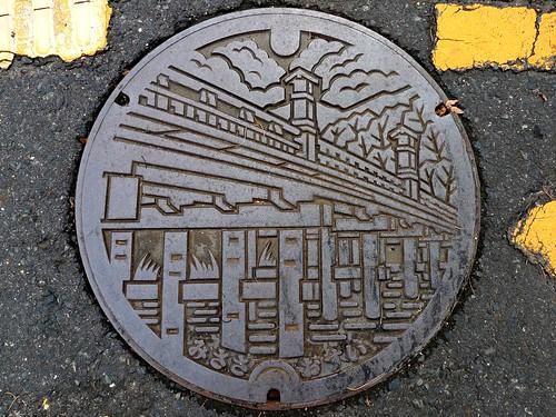 Misasa town Tottori pref, manhole cover (鳥取県三朝町のマンホール)