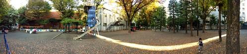 朝の恵比寿公園パノラマ