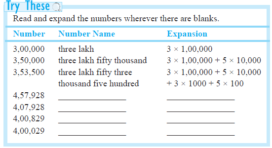 Pre School Worksheets number names in indian system worksheets – The Number System Worksheet