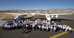 Sir Richard Branson and the hard-working rock stars of rocket science who built SpaceShipTwo and WhiteKnightTwo