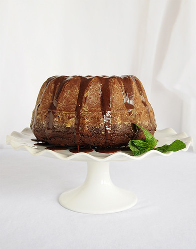 Chocolate Bundt Cake with Mocha Glaze