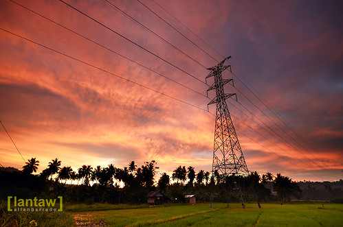 Powerline Sunset 1