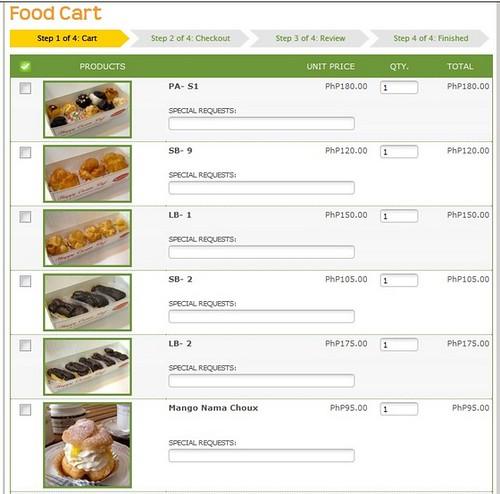 Online Food Cart