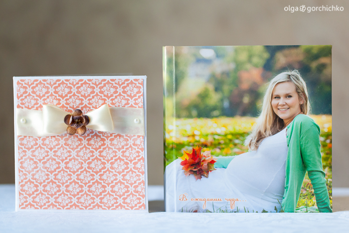 Конверт для диска и минибук с фотосессией беременности Наташи