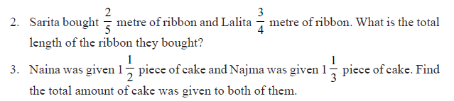 NCERT Class VI Mathematics Chapter 7 Fractions