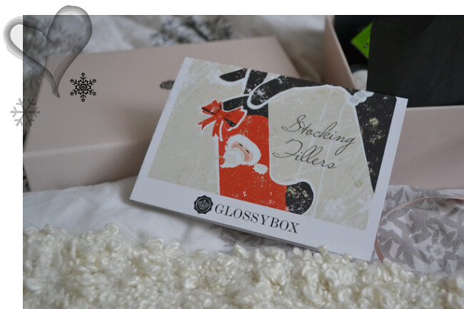 daisybutter - UK Style and Fashion Blog: glossybox uk review, november 2012, glossybox stocking filler edition