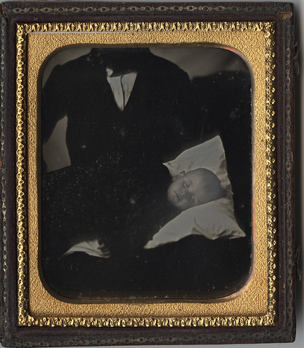 A Father's Heartbreak - Post Mortem Daguerreotype of a Baby