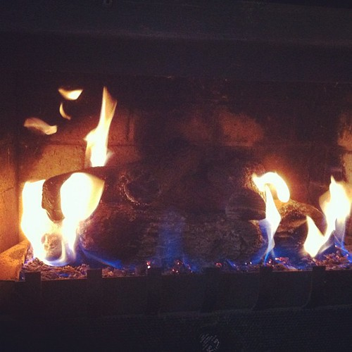 It felt like a good day to fire up the fireplace