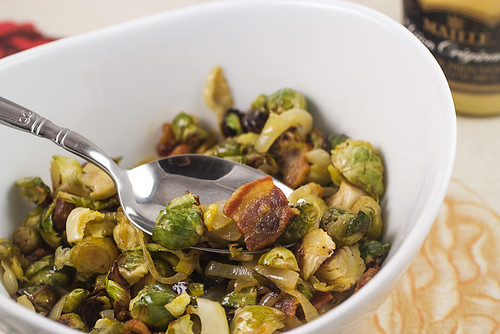 Shaved Brussels Sprouts Salad with Shallots and Pancetta