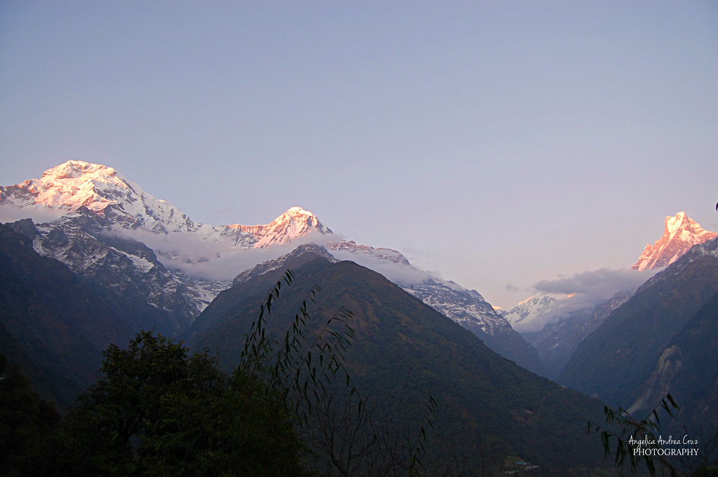 Chomrong Sunset Annapurna Sanctuary Trek