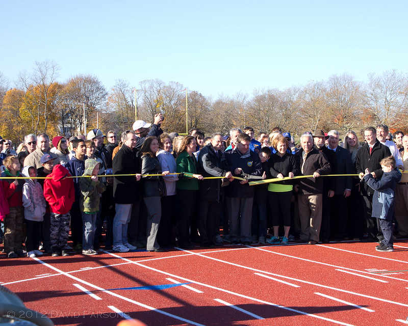 Faxon Field - Cutting the ribbon