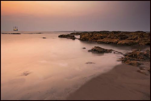 ocean sunset seascape beach nikon rocks sal arabiansea ndfilters explored gradfilters d3s salsmarine salvirji bandraseafront nikon16mm35mm