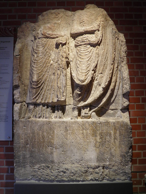 Julia Quinta & Tiberius Julius Severus tombstone, Römerhalle, Bad Kreuznach, Germany