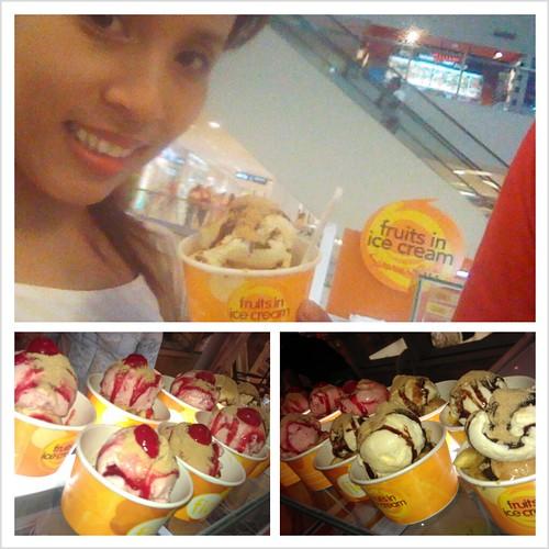 Fruits in Ice Cream