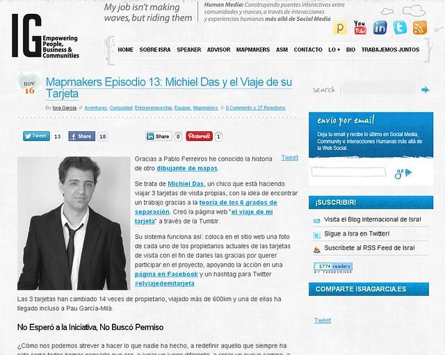 Artíuclo en blog - IsraGarcia (16.11.2012) - castellano