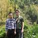 Jasmin avec M He dans ses jardins