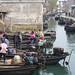 Bateaux de pêcheurs rentrant du lac Tai Hu, Jiangsu