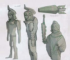 Space Mayans soldiers