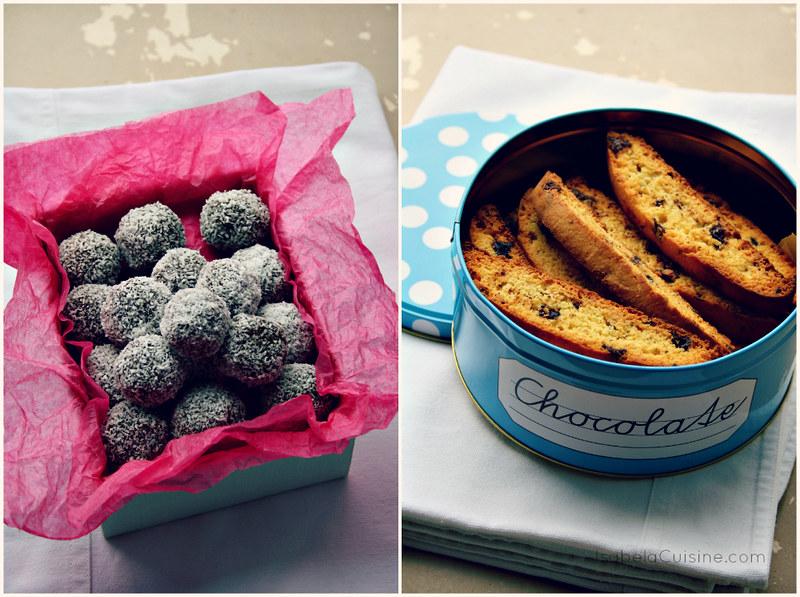 Saffron Biscotti + No Bake Swedish Chocolate Balls