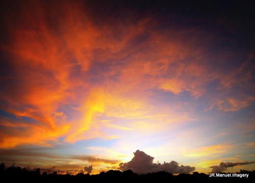 sunset colorful skyward guam dededo wettengel