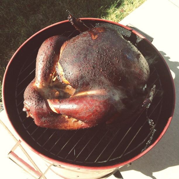 Smokin' da-bird. #thanksgiving