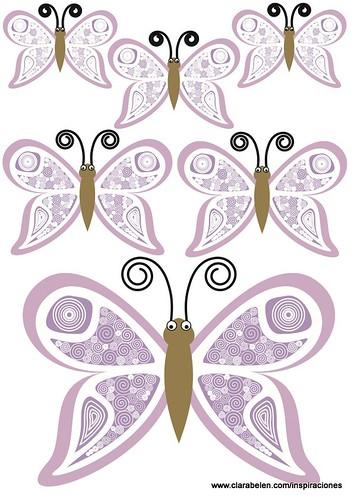 Plantillas de mariposas para manualidades