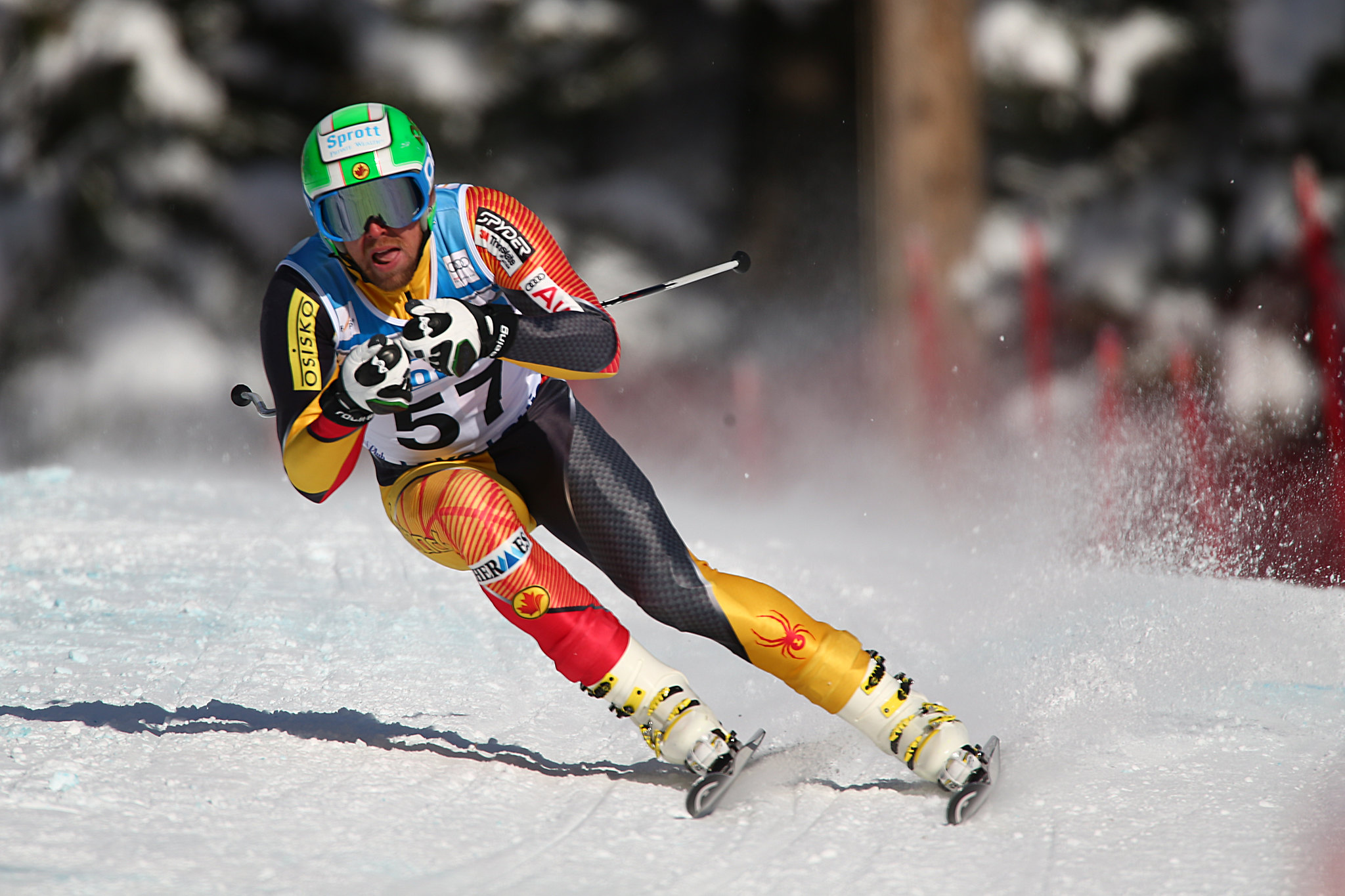 Dustin Cook during the second downhill training run in Lake Louise (Nov. 2012)