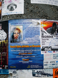 Posters in different places in Trnva