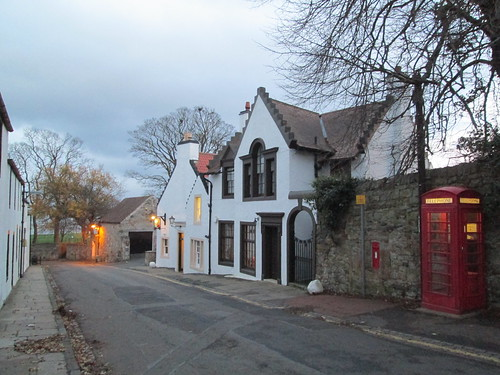 A street in Cramond, Scotland.