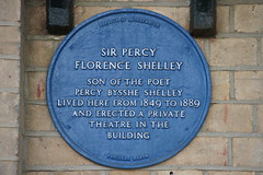 Photo of Percy Florence Shelley blue plaque