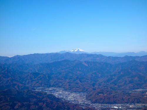 武甲山から見る浅間山