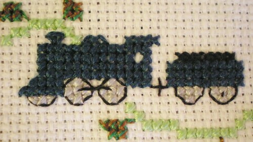 Cross Stitch Train