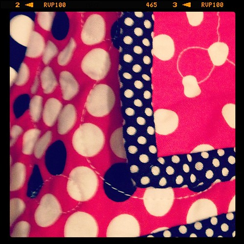 Mickey Mouse quilt binding.