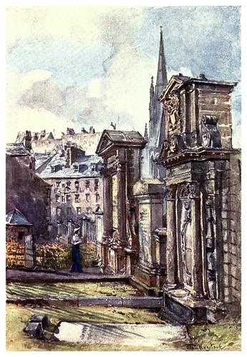 006-Monumento a los martires en Graveyard-Edinburgh, painted by John Fulleylove- 1904