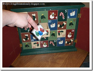 Advent Calendar (Photo from Living Life Intentionally)