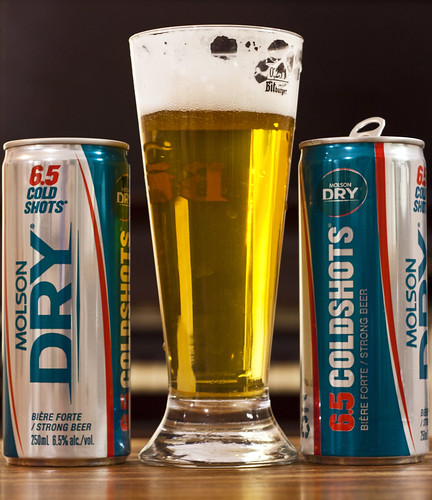 Skunksworth's Barleyslime: Molson Dry Cold Shots 6.5 by Cody La Bière
