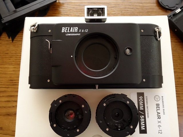 Lomo Belair X 6-12 body and lenses