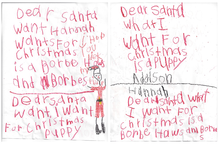 Letter To Santa for Sister too