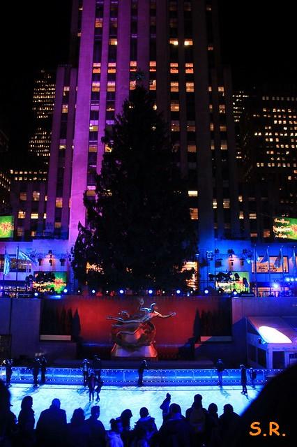 die Eisbahn vorm Rockefeller Center